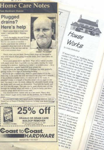 Marketing advertorials used as regular column