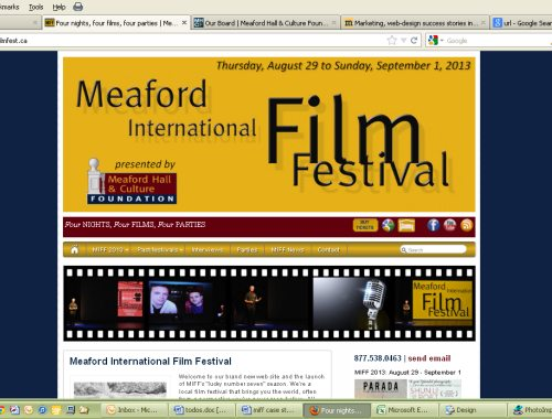 Meaford International Film Festival kicks off new season with new responsive website design