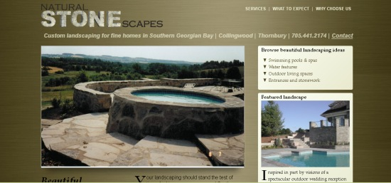 Natural Stonescapes uses content marketing to generate qualified leads