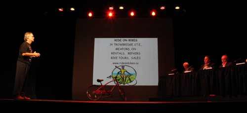 Paul Bishop of Meaford's Ride on Bikes faces the Dragons' Den