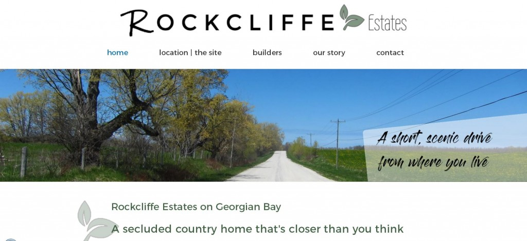 Rockcliffe Estates website screenshot