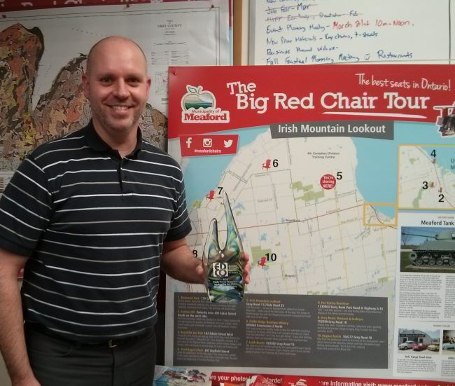 Stephen Murray, Meaford Economic Development Officer, shows off the EDCO for tourism marketing