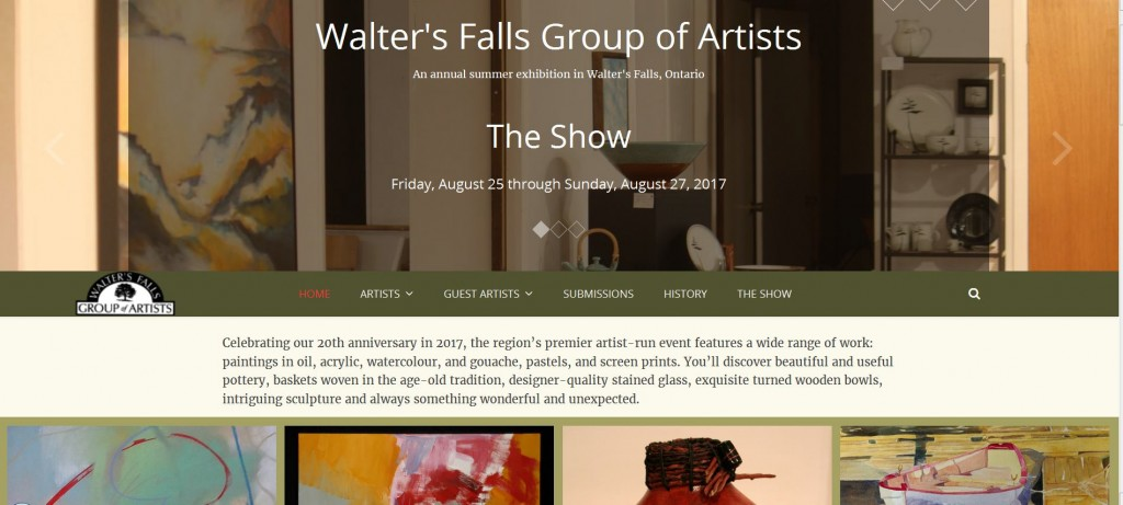 Walters Falls Group of Artists website screenshot