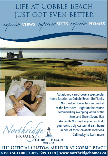 Northridge Homes at Cobble Beach ad