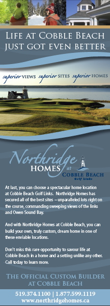 Northridge Homes at Cobble Beach magazine ad