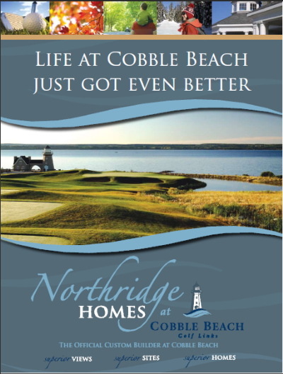 Northridge Homes at Cobble Beach brochure cover