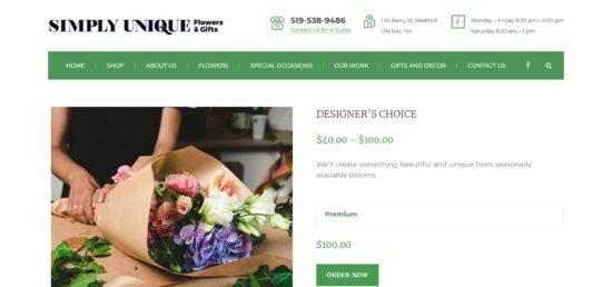 simplyuniqueflowers.ca eCommerce
